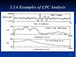 3 3 6 examples of lpc analysis