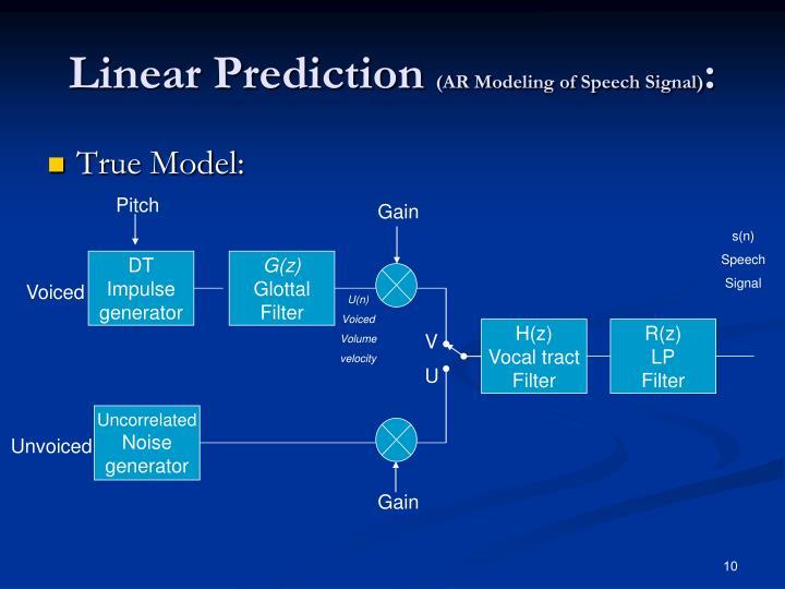 Linear Prediction