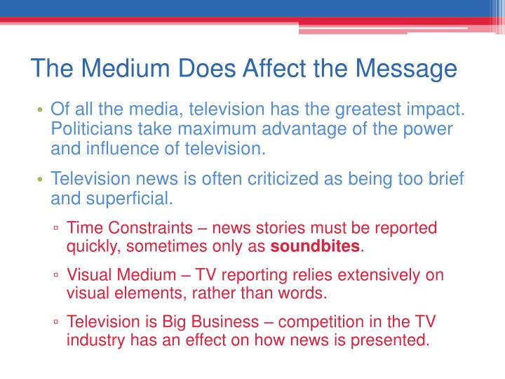 The power of media messages
