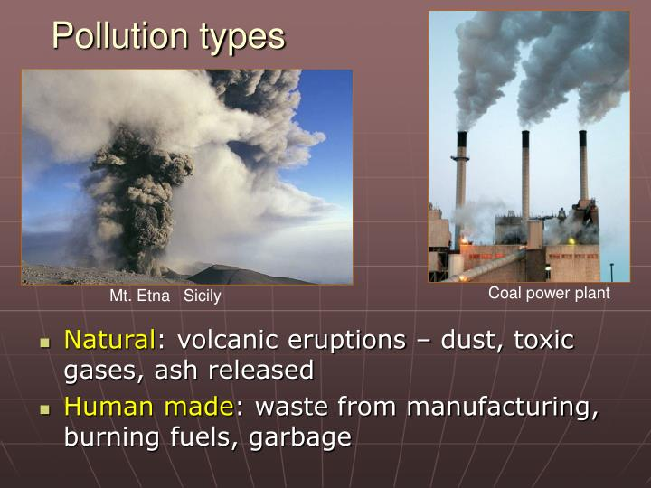 Pollution types