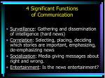 4 significant functions of communication