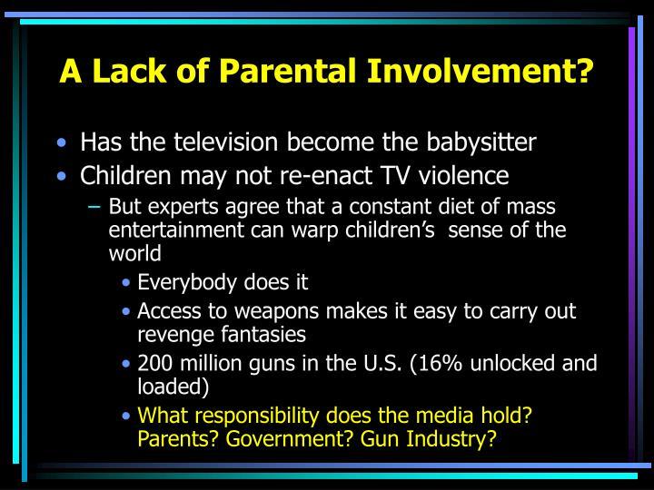 A Lack of Parental Involvement?