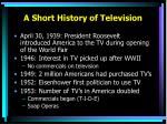 a short history of television