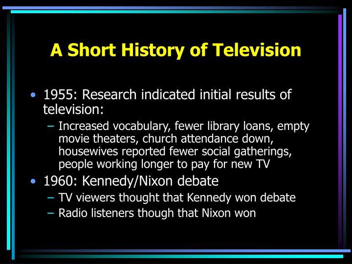 A Short History of Television