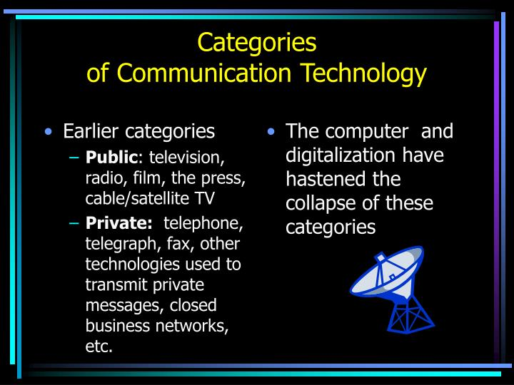 Earlier categories