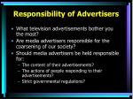 responsibility of advertisers