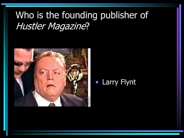 Who is the founding publisher of