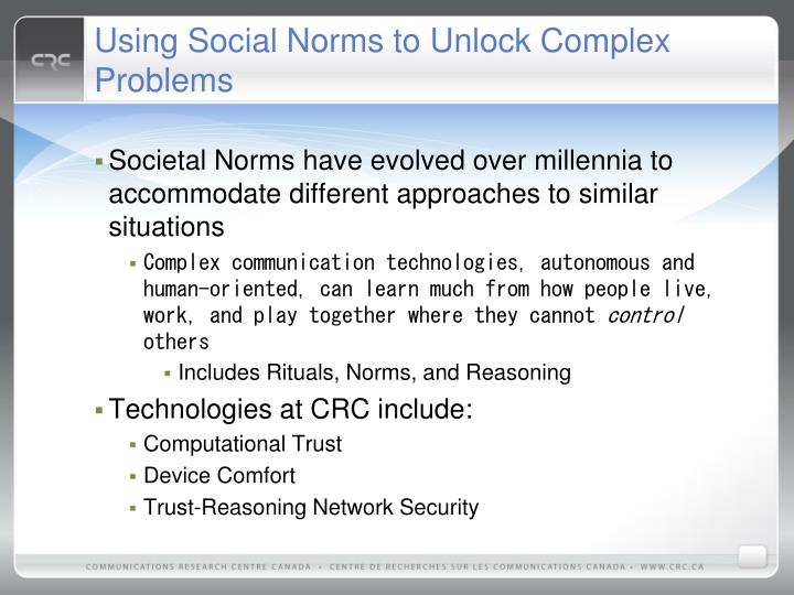 Using Social Norms to Unlock Complex Problems