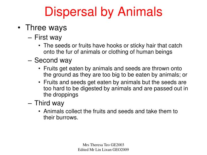 Dispersal by Animals