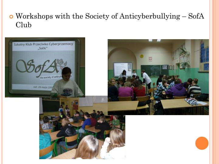 Workshops with the Society of Anticyberbullying – SofA Club