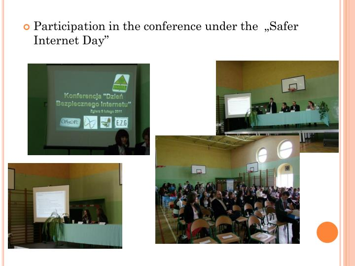 "Participation in the conference under the  ""Safer Internet Day"""