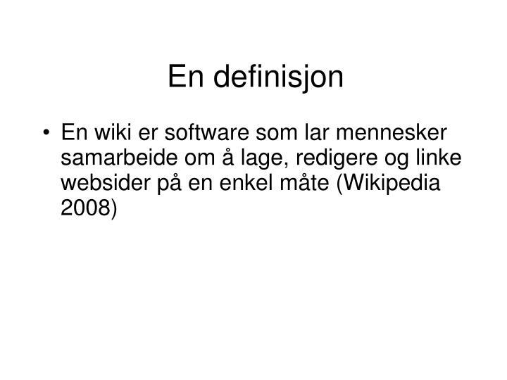 En definisjon