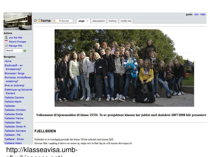 http://klasseavisa.umb-sll.wikispaces.net/