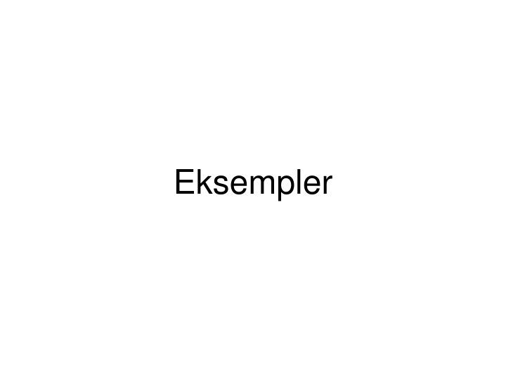 Eksempler