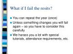 what if i fail the resits