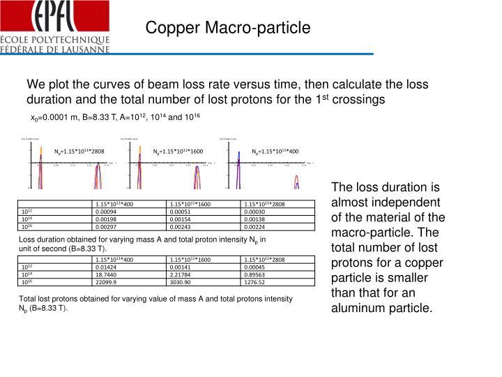 Copper Macro-particle
