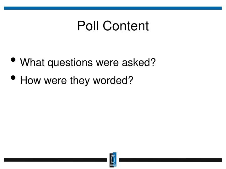 Poll Content
