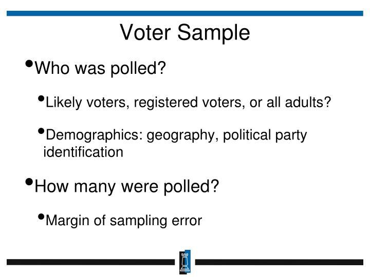 Voter Sample