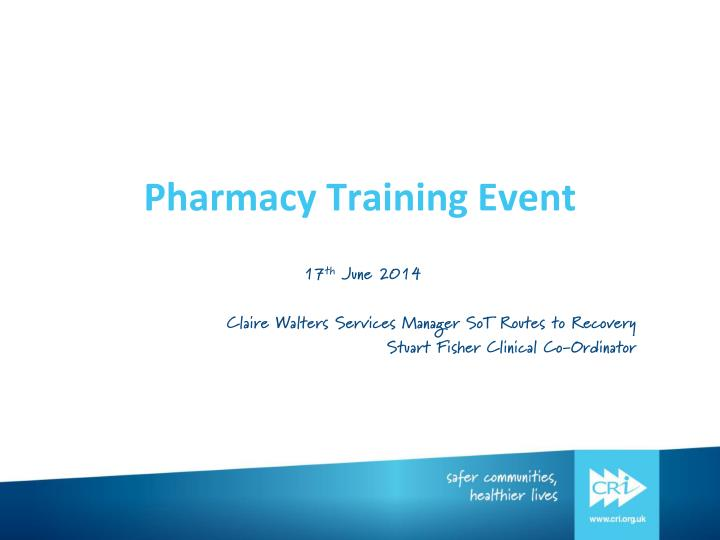Pharmacy training event