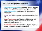 aac demographic lessons