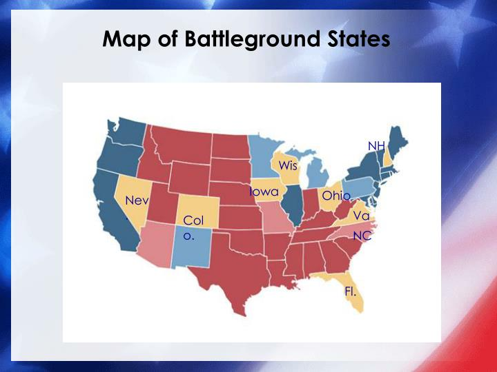 Map of Battleground States