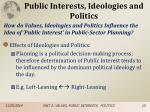public interests ideologies and politics3