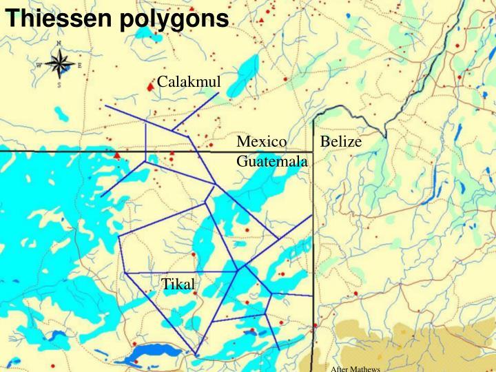 Thiessen polygons