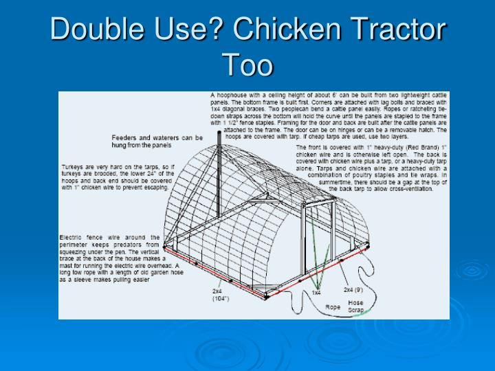 Double Use? Chicken Tractor Too