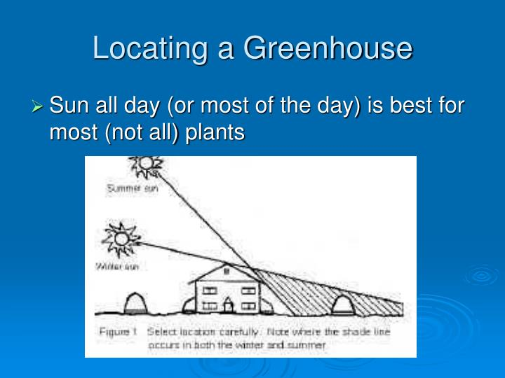 Locating a Greenhouse