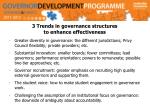 3 trends in governance structures to enhance effectiveness