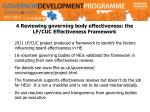 4 reviewing governing body effectiveness the lf cuc effectiveness framework