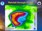 rainfall through friday
