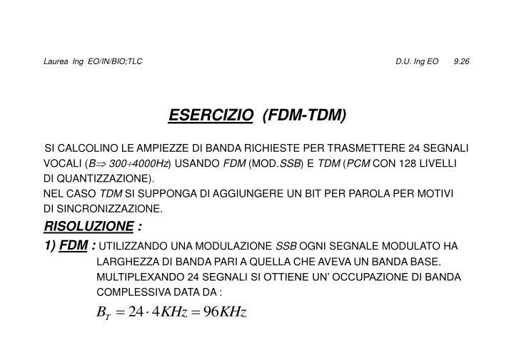 Laurea  Ing  EO/IN/BIO;TLC                                                                                                                  D.U. Ing EO       9.26