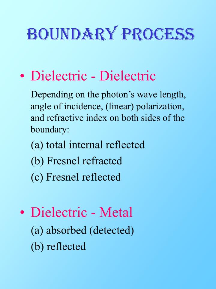 Boundary Process