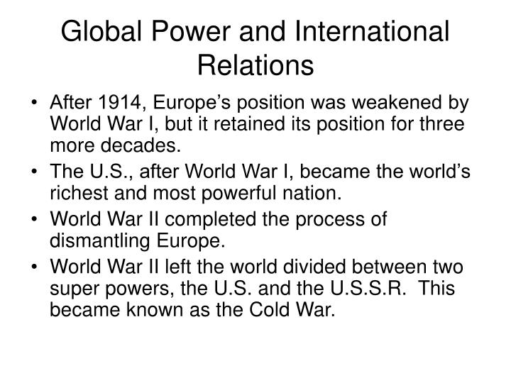 Global Power and International Relations