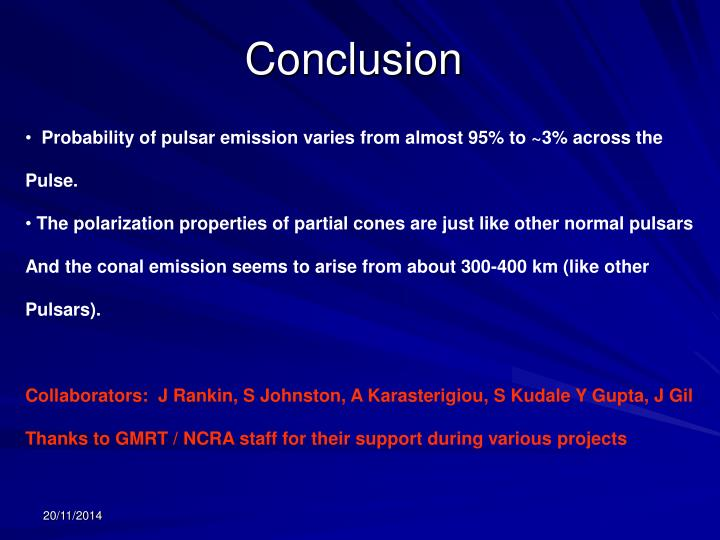 Probability of pulsar emission varies from almost 95% to ~3% across the