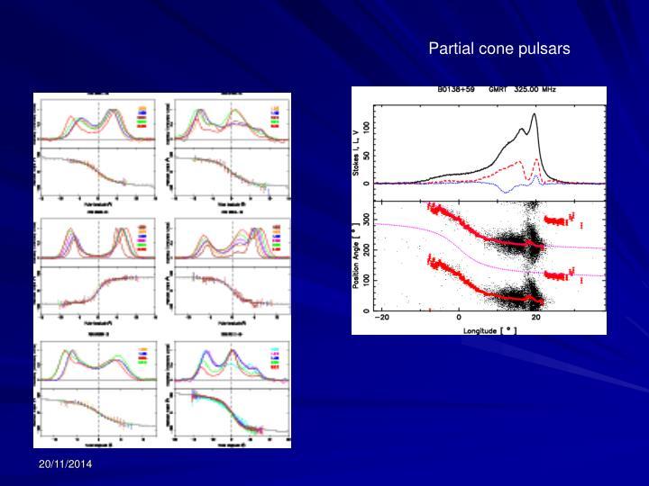 Partial cone pulsars