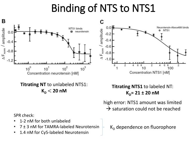 Binding of NTS to NTS1