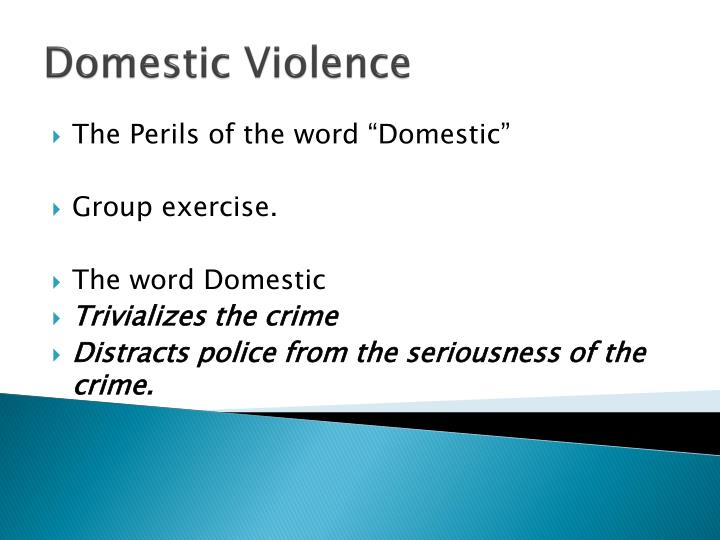 "The Perils of the word ""Domestic"""