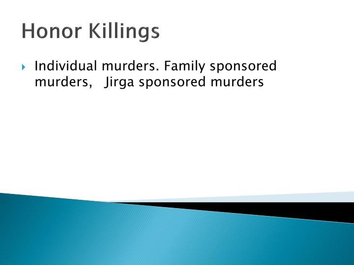 Honor Killings