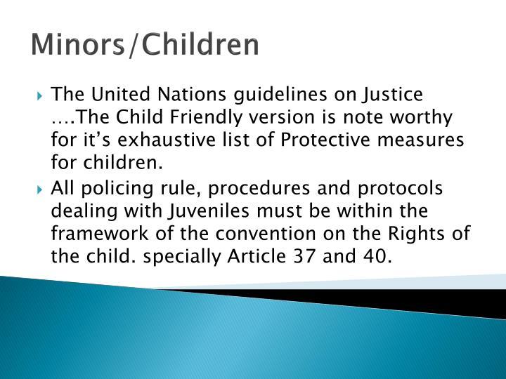 Minors/Children