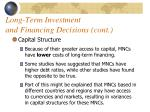 long term investment and financing decisions cont1