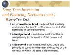 long term investment and financing decisions cont2