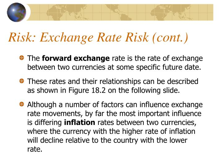 Risk: Exchange Rate Risk (cont.)