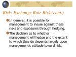 risk exchange rate risk cont4