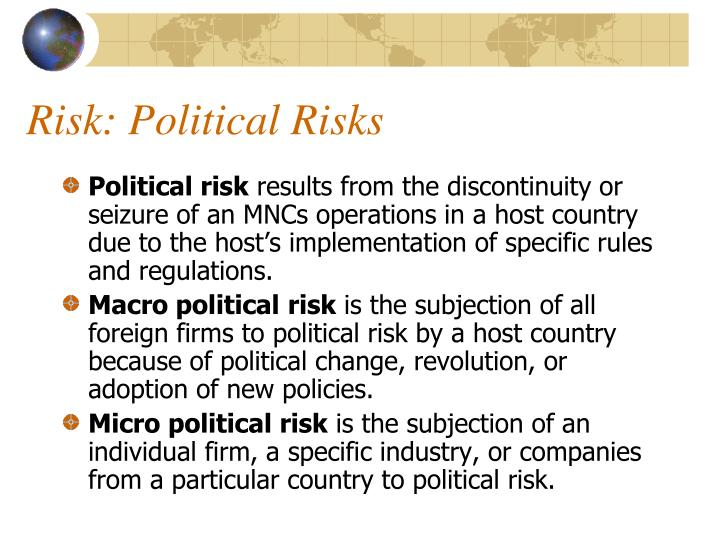 Risk: Political Risks