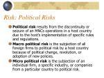 risk political risks