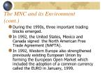 the mnc and its environment cont