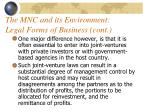 the mnc and its environment legal forms of business cont