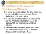 the mnc and its environment legal forms of business